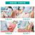 品妙生活哺乳椅子授乳椅子授乳神器按摩加温加護後、月子椅子を回復させ、外に出してもいいです。ファブリック現代シンプリビングルームの書斎ソファイスの米白色授乳マッサージ椅子。