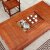 【秒殺直下精選】贛系匠工純木茶テーブルセットみあわせ1.8 m 1.5 m中国式南楡木事務室の工夫で茶芸茶道テーブルを飲む。古茶台茶テーブルを模したテーブル+1囲い椅子+4牛角椅子1.8 m茶テーブル