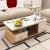 富博セセンテーテ-ブル现代シンプロガラスセ-ンテーテ-ル客间テーブルの丸い角セ-ンテーテ-ブルブルブルテーブルの组み合わせ浅い胡桃+白+白ガラス120*60长さと幅が高いです。