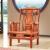 皇印紅木家具アフリカ花梨(学名:ハリネズミ紫檀)ソフ・ファン・小部屋多人シングファァ·グループみ合わせ纯木ソ·ファ·明式2355六件セット(1+1+3ソフファァー+センテーテ+2角