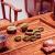 百家汇红l木家具アフリカ花l梨(学名:ハリネズミ紫檀)茶卓純木茶テーブルセットみ合わせて、中国式の模仿古式新中国式功夫センテーティーテーブル1.08 mトラ足茶テーブル