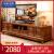 木の家臻の纯粋な木のテレンのように、中国式の樟木の戸棚の客间の映画とテレビの戸棚には红茶の色がいっぱい诘められています。